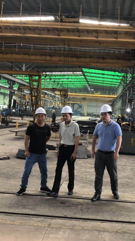 澳洲中人瑞德集团总裁秋石先生到中人钢构生产基地考察